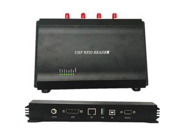 China RS232 Usb Long Distance 4 Port RFID Reader , Long Range Uhf Rfid Reader supplier