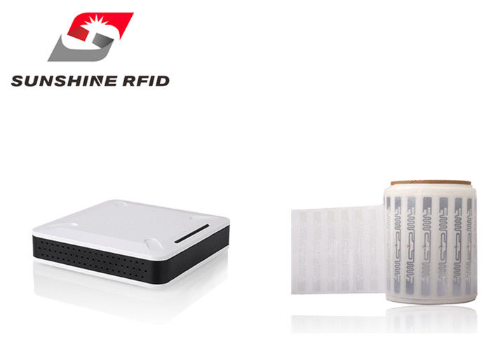China Smart 0.5 M Reading Distance USB UHF RFID Reader Desktop With -1dBi Ceramic Antenna factory