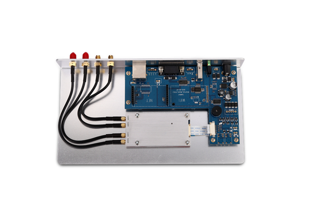 High Efficient 860 960 Mhz RFID Reader , Fixed UHF RFID Reader Compact Design