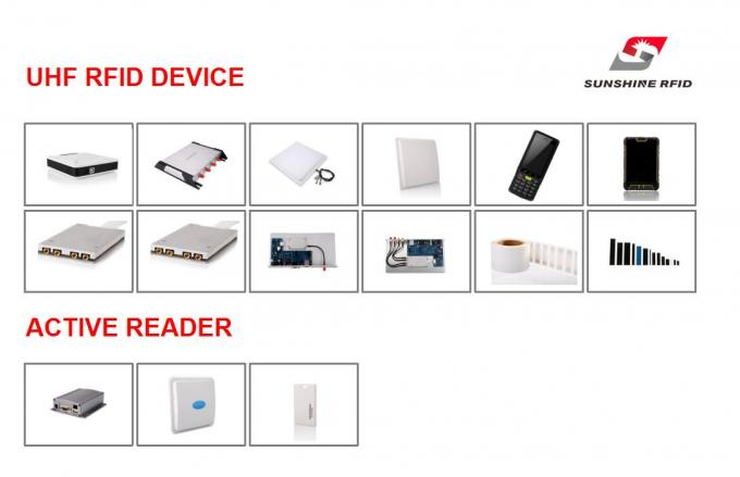 Handheld Battery Powered RFID Reader Android System 840-960 MHZ Frequency