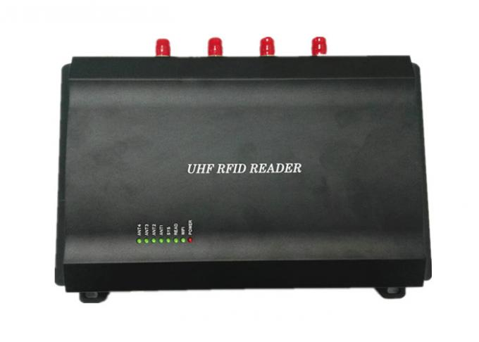 Four Ports Radio Frequency Identification Reader , UHF Rfid Reader Rs232